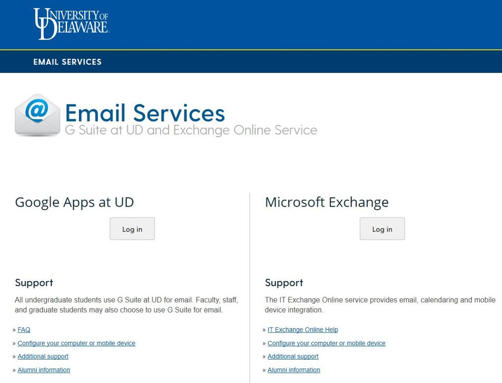 Email Services screencapture