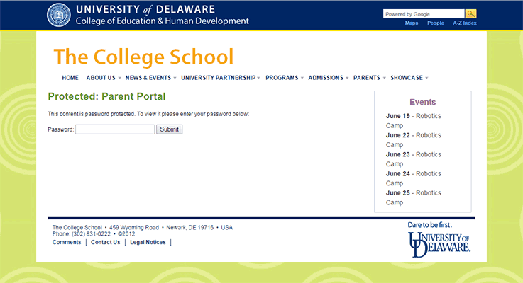 The College School Parent Portal