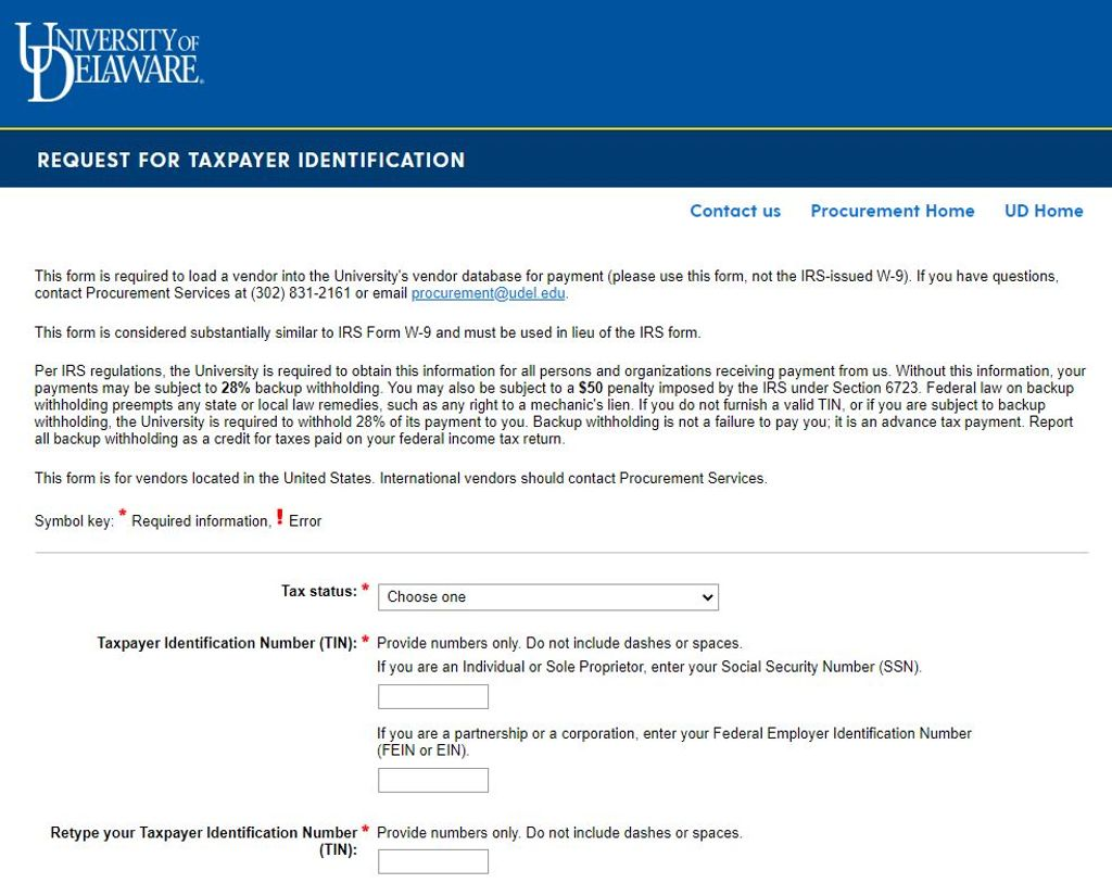 Request for taxpayer identification screen capture