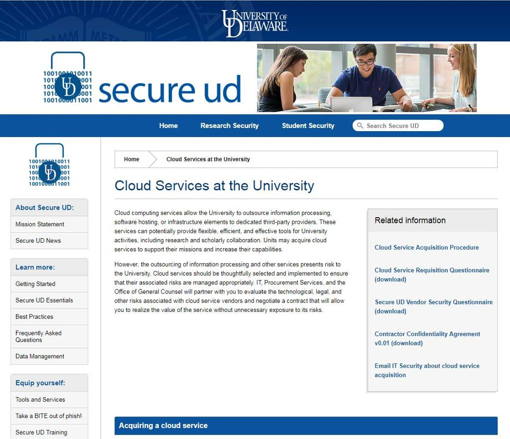 SecureUD website