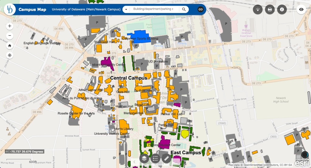 map of university of delaware campus Ud Campus Map My Ud map of university of delaware campus